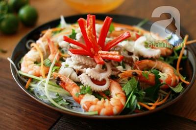 Công thức làm món miến trộn hải sản chua cay siêu hấp dẫn