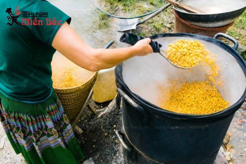 Cách nấu rượu Mông Pê Tủa Chùa