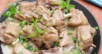 Cách làm món vịt om sấu nước cốt dừa