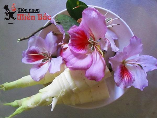 Nguyên liệu làm măng nộm hoa ban