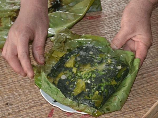 cách làm món rêu đá Lai Châu