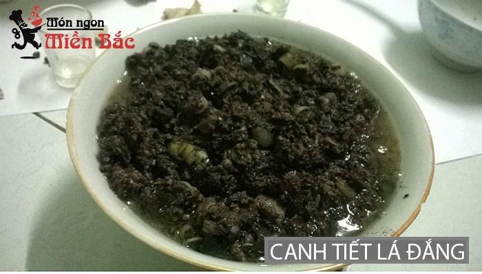 Canh tiết lá đắng đặc sản Lai Châu