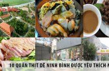 10 quán thịt dê Ninh Bình được yêu thích nhất