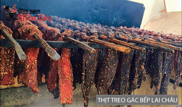 Thịt treo gác bếp đặc sản Lai Châu