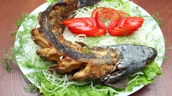 cá tầm nướng lá lốt