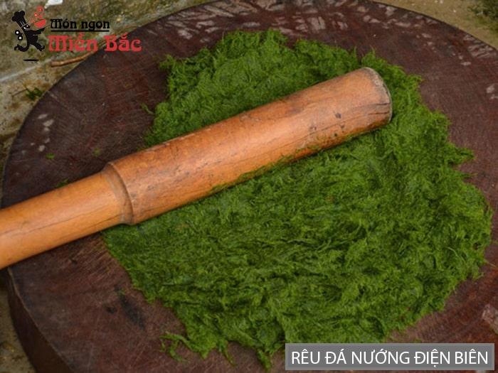 Cách làm rêu đá nướng Lai Châu