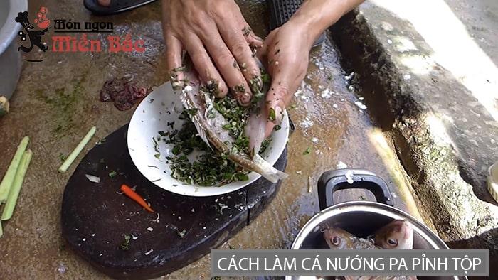 Cách làm cá nướng pa pỉnh tộp Lai Châu