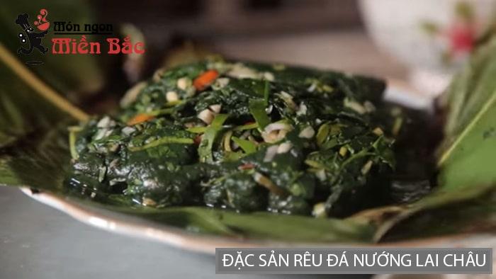 Đặc sản rêu đá nướng Lai Châu