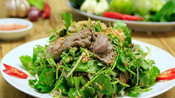 Cách làmnộm rau má thịt lợn
