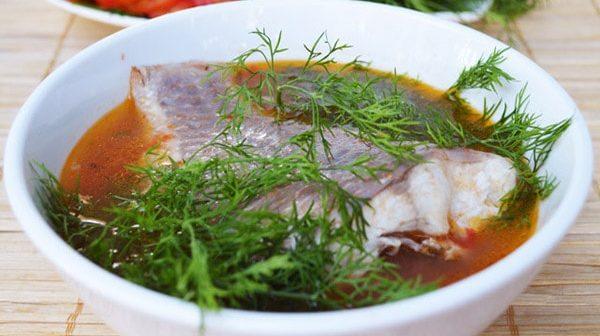 canh riêu cá nấu mẻ