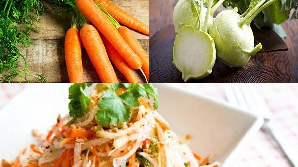 cách làm món nộm su hào cà rốt