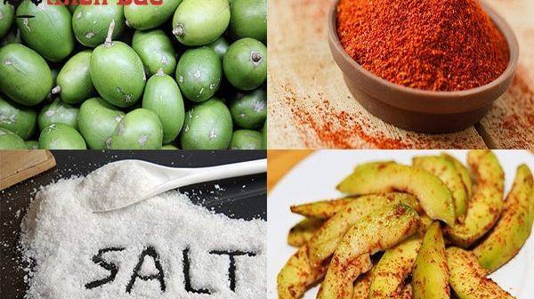 Cách làm cóc dầm muối ớt