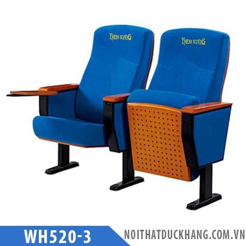 Ghế hội trường WH520-3 chân thép tĩnh điện