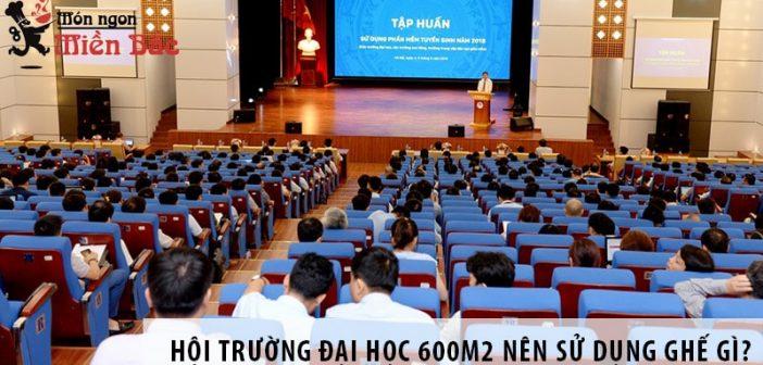 Thiết kế hội trường đại học 600m2 nên sử dụng ghế gì?