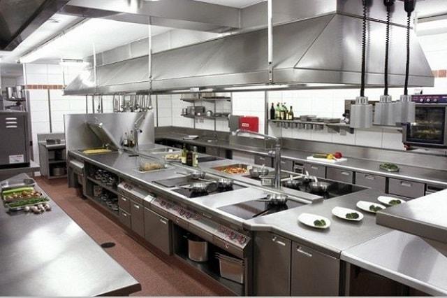 Thiết kế bếp nhà hàng, khách sạn cần bố trí hợp lý, khoa học