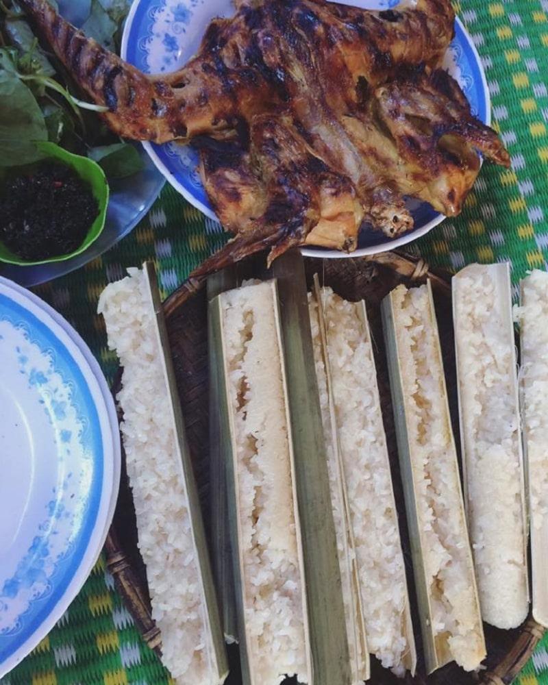 Cơm lam và gà nướng Pleitiêng là 1 quán ăn ngon ở Gia Lai