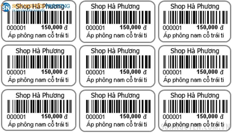 Mẫu tem giá sản phẩm tại In Sơn Nguyên
