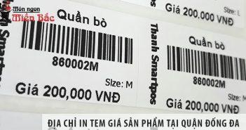 Kinh nghiệm in tem giá sản phẩm tại quận Đống Đa giá rẻ